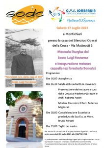Anniversario Beato Luigi Novarese luglio 2021
